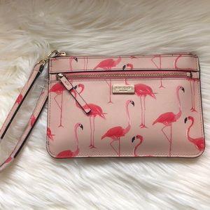 Kate Spade Cedar Street Flamingo Wristlet